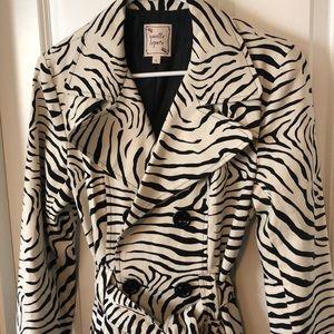 Nanette Lepore Zebra Trench Coat